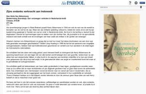 Recensie in Het Parool, 9 juli 2014