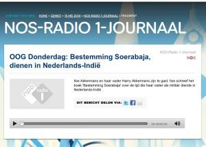 Interview Met het Oog op Morgen, NOS Radio 1, 15 mei 2014